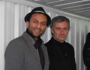 Imran Azam with José Mourinho